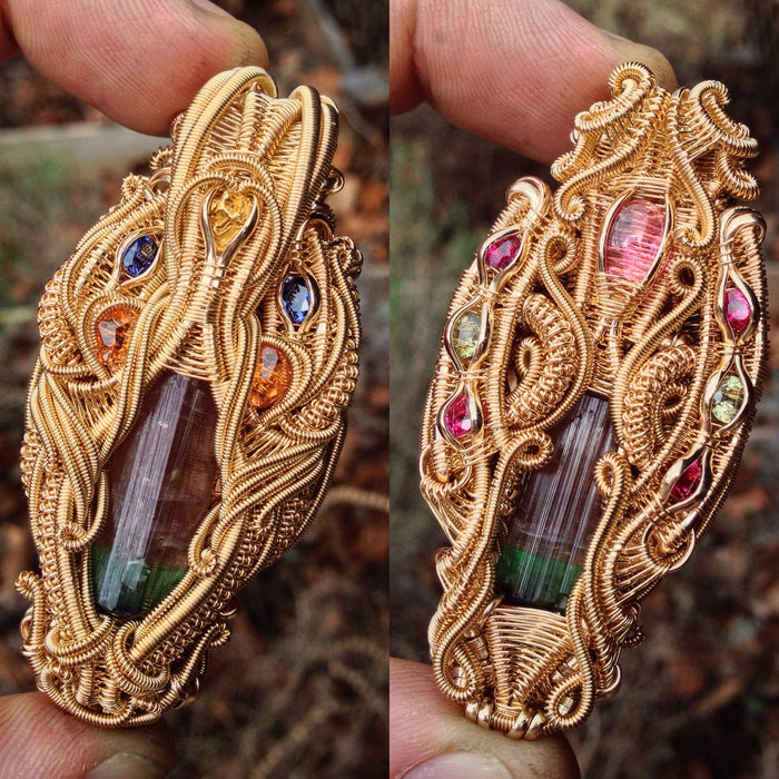 The Golden State- high end wire wrap talisman