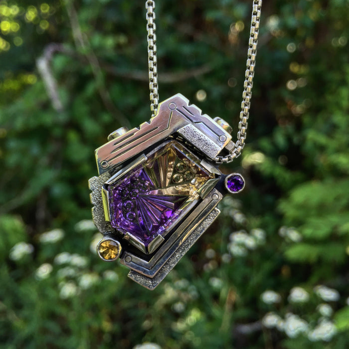 John Dyer Ametrine Fabricated Pendant