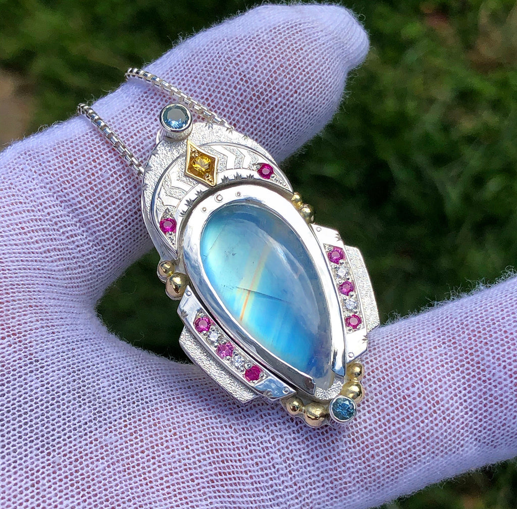 """Wide Awake"" Moonstone Talisman"