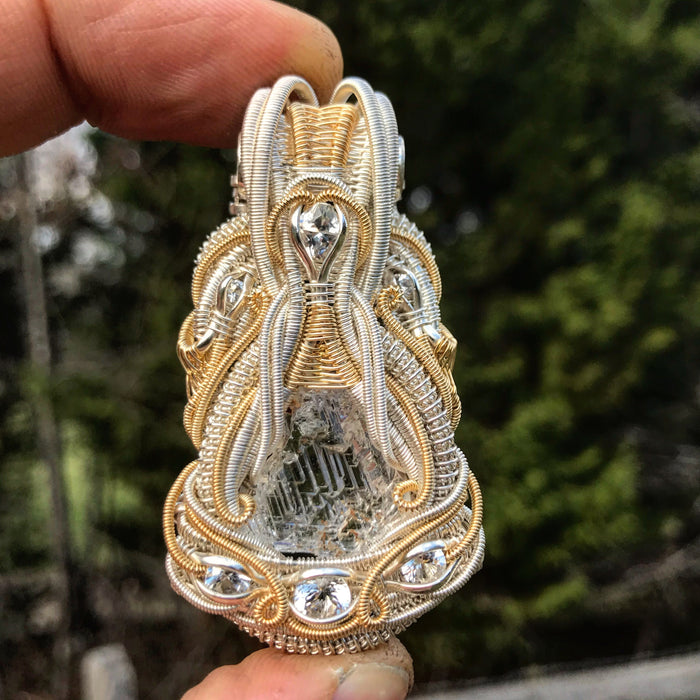 Phenakite wire wrap