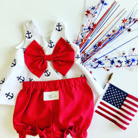 Summer Sailor Peplum Set