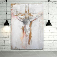 Gold Supplier Hand-painted High Quality Abstract Jesus Canvas Oil Painting Watercolor Wall Artwork Decorative Hang Picture Craft