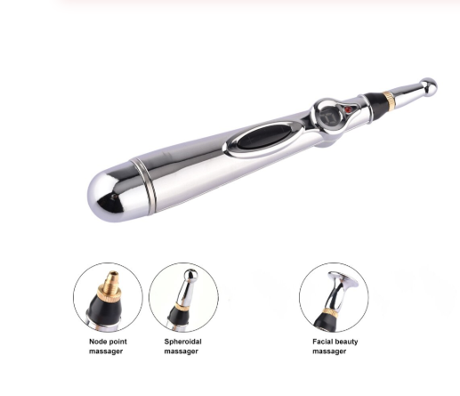 Meridian Electronic Acupuncture Pen Therapy Health Care Heal Muscle Pain Head Relieving Device Energy Massage Pen 3 Massage Head