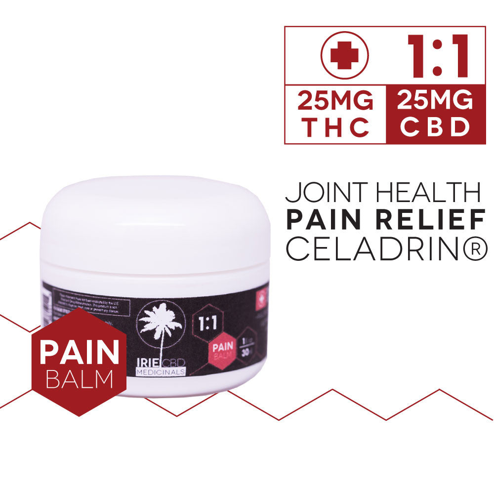 IrieCBD Medicinals 1:1 Cannabis Infused Pain Balm
