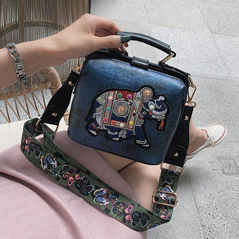 Ryuko Embroidery Elephant Bag