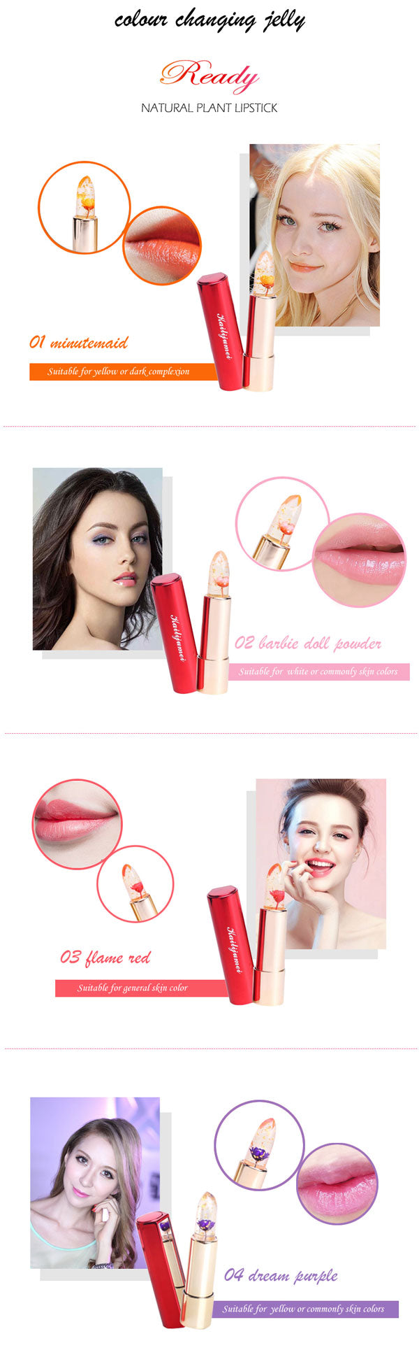 Magic Flower Lipstick - 4 Colors To Choose From