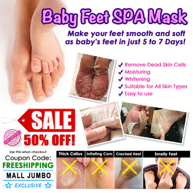 Baby Feet Spa Mask - MallJumbo.com
