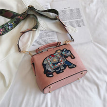 Load image into Gallery viewer, Ryuko Embroidery Elephant Bag - Pink - MallJumbo.com