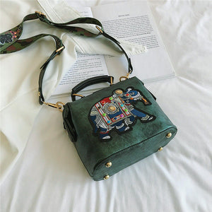 Ryuko Embroidery Elephant Bag - Green - MallJumbo.com