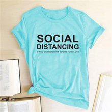 Load image into Gallery viewer, Social Distancing T-Shirt - Sea Blue / S - MallJumbo.com