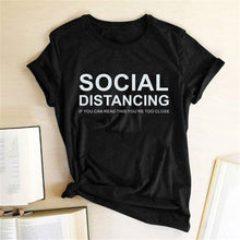 Load image into Gallery viewer, Social Distancing T-Shirt - Black / S - MallJumbo.com