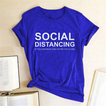 Load image into Gallery viewer, Social Distancing T-Shirt - Blue / S - MallJumbo.com