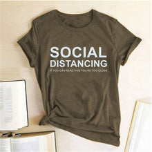 Load image into Gallery viewer, Social Distancing T-Shirt - Brown / S - MallJumbo.com