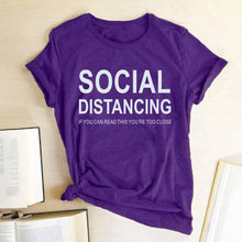 Load image into Gallery viewer, Social Distancing T-Shirt - Purple / S - MallJumbo.com