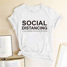 Load image into Gallery viewer, Social Distancing T-Shirt - White / S - MallJumbo.com