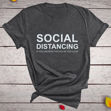 Load image into Gallery viewer, Social Distancing T-Shirt - Dark Grey / S - MallJumbo.com
