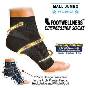 FootWellness™ Compression Socks - MallJumbo.com