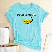 Load image into Gallery viewer, Dolce & Banana Tee - Sky Blue / S - MallJumbo.com