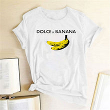 Load image into Gallery viewer, Dolce & Banana Tee - White / S - MallJumbo.com