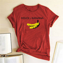 Load image into Gallery viewer, Dolce & Banana Tee - Red / S - MallJumbo.com