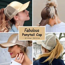 Load image into Gallery viewer, Fabulous Ponytail Cap - Glitter Edition - MallJumbo.com