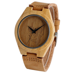 Hand-made Nature Wooden Skull Watch