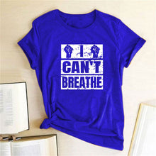 Load image into Gallery viewer, I Can't Breathe T-Shirt - Blue / S - MallJumbo.com