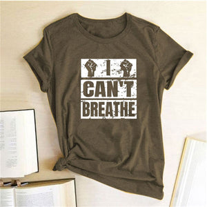 I Can't Breathe T-Shirt - Brown / S - MallJumbo.com