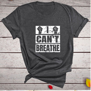 I Can't Breathe T-Shirt - Dark Grey / S - MallJumbo.com