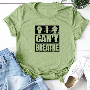 I Can't Breathe T-Shirt - Green / S - MallJumbo.com