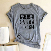Load image into Gallery viewer, I Can't Breathe T-Shirt - Grey / S - MallJumbo.com