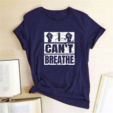 Load image into Gallery viewer, I Can't Breathe T-Shirt - Navy / S - MallJumbo.com