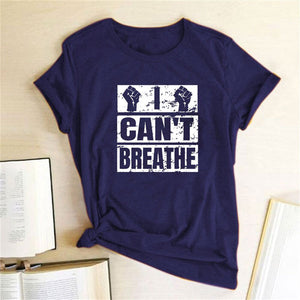 I Can't Breathe T-Shirt - Navy / S - MallJumbo.com