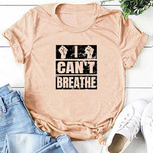 Load image into Gallery viewer, I Can't Breathe T-Shirt - Peach / S - MallJumbo.com