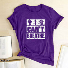 Load image into Gallery viewer, I Can't Breathe T-Shirt - Purple / S - MallJumbo.com