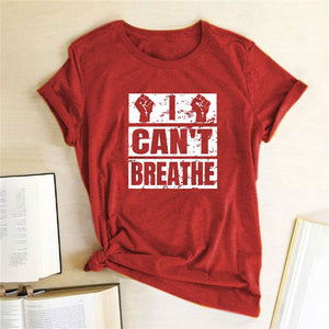 I Can't Breathe T-Shirt - Red / S - MallJumbo.com