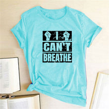 Load image into Gallery viewer, I Can't Breathe T-Shirt - Sky Blue / S - MallJumbo.com