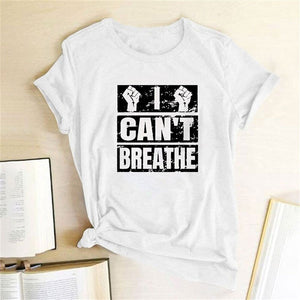 I Can't Breathe T-Shirt - White / S - MallJumbo.com