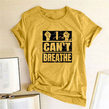 Load image into Gallery viewer, I Can't Breathe T-Shirt - Yellow / S - MallJumbo.com