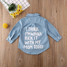 Load image into Gallery viewer, Kick It Denim Shirt - White Wording / 3T - MallJumbo.com