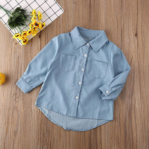 Kick It Denim Shirt - MallJumbo.com