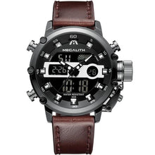 Load image into Gallery viewer, Medatsu Chronograph Watch - Black Case Brown Leather - MallJumbo.com