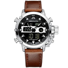 Load image into Gallery viewer, Medatsu Chronograph Watch - Silver Case Brown Leather - MallJumbo.com