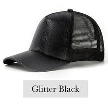 Load image into Gallery viewer, Fabulous Ponytail Cap - Glitter Edition - Black - MallJumbo.com