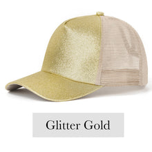 Load image into Gallery viewer, Fabulous Ponytail Cap - Glitter Edition - Gold - MallJumbo.com