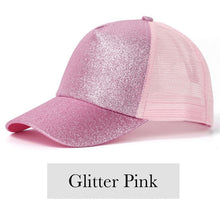 Load image into Gallery viewer, Fabulous Ponytail Cap - Glitter Edition - Pink - MallJumbo.com