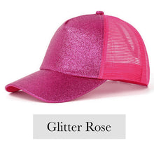 Load image into Gallery viewer, Fabulous Ponytail Cap - Glitter Edition - Rose - MallJumbo.com