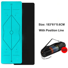 Load image into Gallery viewer, Position Line Yoga Mat - 1 Set x (Cyan + FREE Carrier Bag) - MallJumbo.com