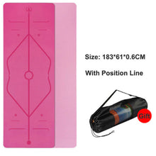 Load image into Gallery viewer, Position Line Yoga Mat - 1 Set x (Pink + FREE Carrier Bag) - MallJumbo.com
