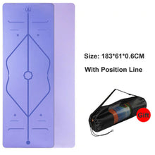 Load image into Gallery viewer, Position Line Yoga Mat - 1 Set x (Purple + FREE Carrier Bag) - MallJumbo.com
